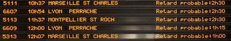 Affichage Retard TGV
