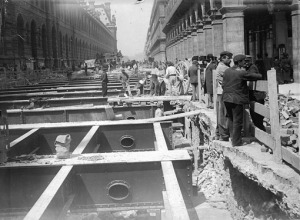 Construction du métro 1899