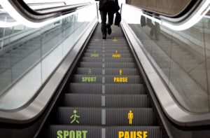 Nudge escalator - Sport & Pause